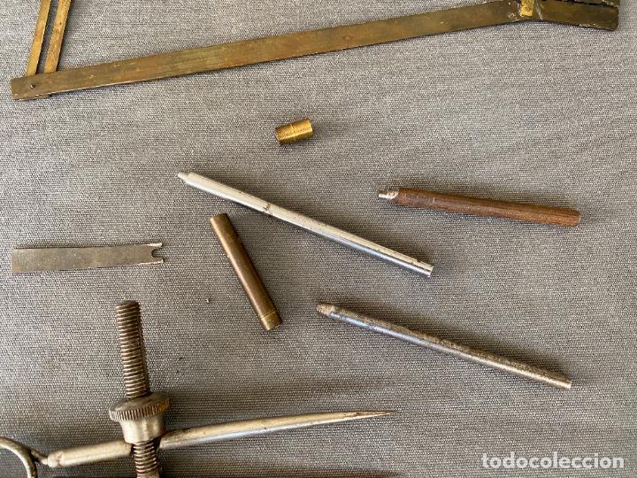 Antigüedades: LOTE DE HERRAMIENTAS ANTIGUAS , COMPAS , ETC. - Foto 5 - 287875873