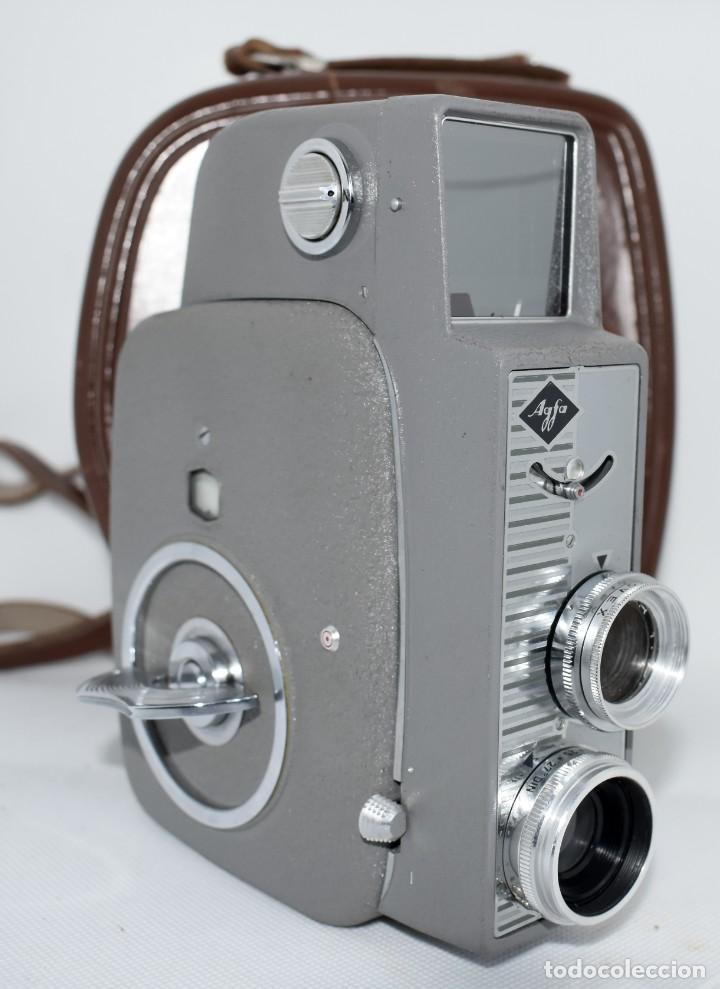 Antigüedades: EXTRAORDINARIA CAMARA, CINE A CUERDA DE 8 mm.ALEMANIA 1958..AGFA MOVEX AUTOMATIC +FUNDA. FUNCIONA - Foto 2 - 287902663