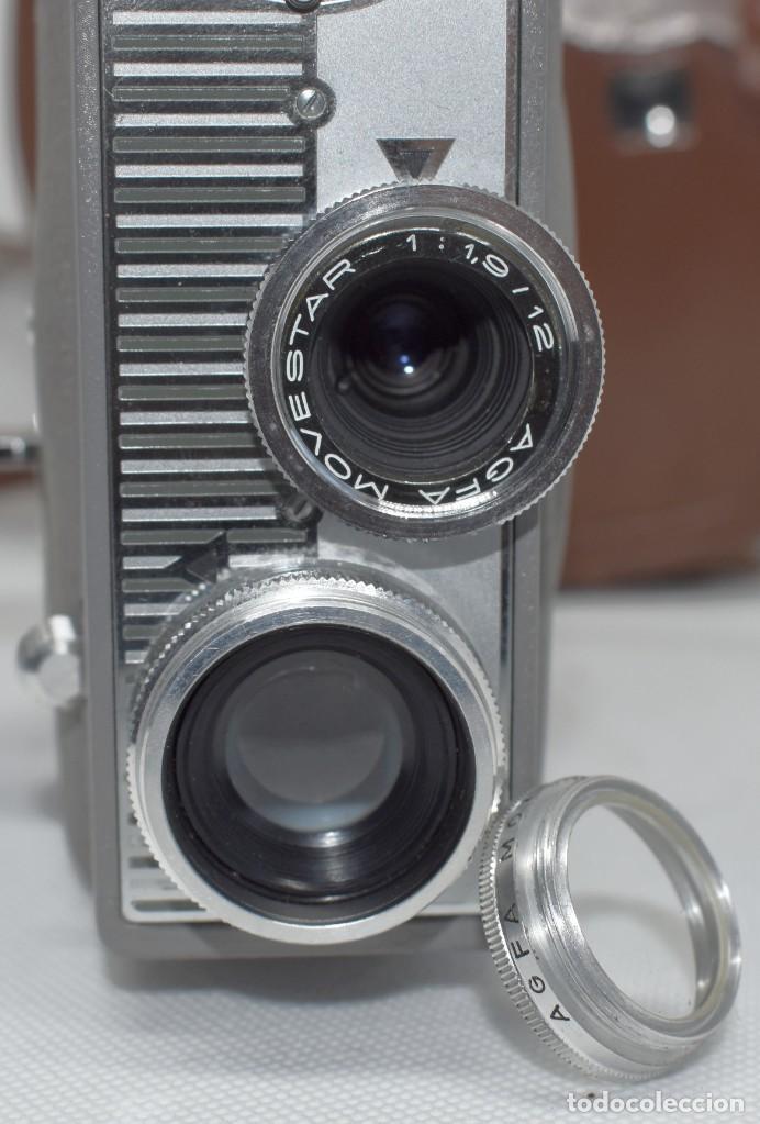 Antigüedades: EXTRAORDINARIA CAMARA, CINE A CUERDA DE 8 mm.ALEMANIA 1958..AGFA MOVEX AUTOMATIC +FUNDA. FUNCIONA - Foto 3 - 287902663