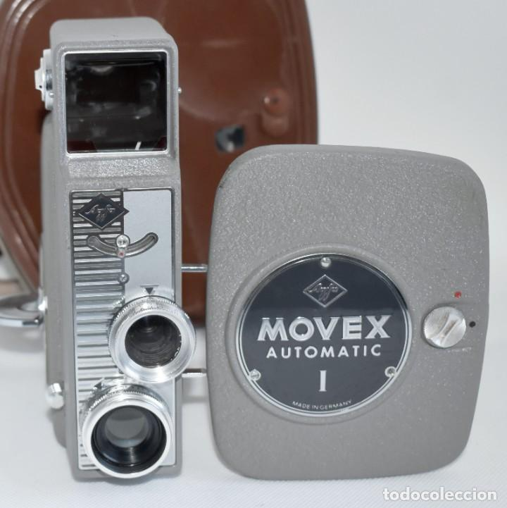 Antigüedades: EXTRAORDINARIA CAMARA, CINE A CUERDA DE 8 mm.ALEMANIA 1958..AGFA MOVEX AUTOMATIC +FUNDA. FUNCIONA - Foto 4 - 287902663