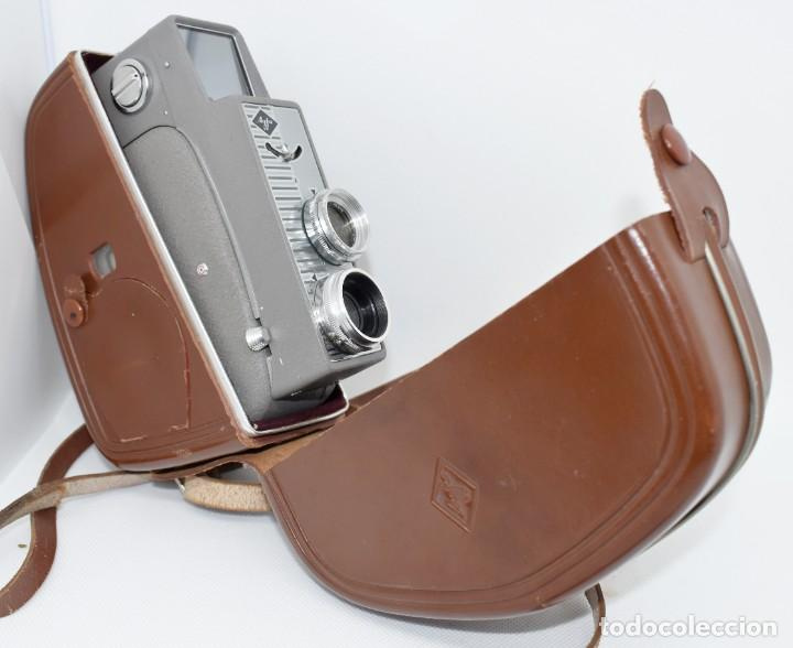 Antigüedades: EXTRAORDINARIA CAMARA, CINE A CUERDA DE 8 mm.ALEMANIA 1958..AGFA MOVEX AUTOMATIC +FUNDA. FUNCIONA - Foto 5 - 287902663