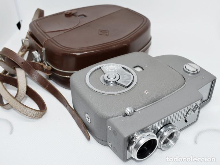 Antigüedades: EXTRAORDINARIA CAMARA, CINE A CUERDA DE 8 mm.ALEMANIA 1958..AGFA MOVEX AUTOMATIC +FUNDA. FUNCIONA - Foto 6 - 287902663