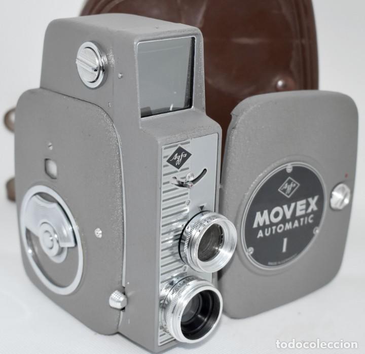Antigüedades: EXTRAORDINARIA CAMARA, CINE A CUERDA DE 8 mm.ALEMANIA 1958..AGFA MOVEX AUTOMATIC +FUNDA. FUNCIONA - Foto 7 - 287902663