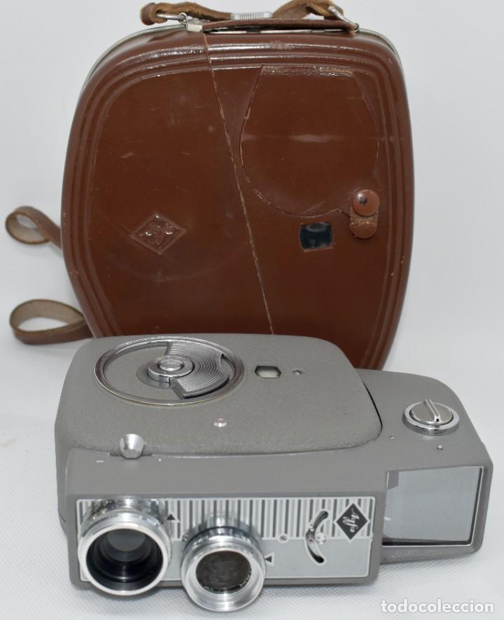 Antigüedades: EXTRAORDINARIA CAMARA, CINE A CUERDA DE 8 mm.ALEMANIA 1958..AGFA MOVEX AUTOMATIC +FUNDA. FUNCIONA - Foto 8 - 287902663