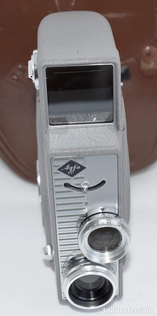 Antigüedades: EXTRAORDINARIA CAMARA, CINE A CUERDA DE 8 mm.ALEMANIA 1958..AGFA MOVEX AUTOMATIC +FUNDA. FUNCIONA - Foto 9 - 287902663