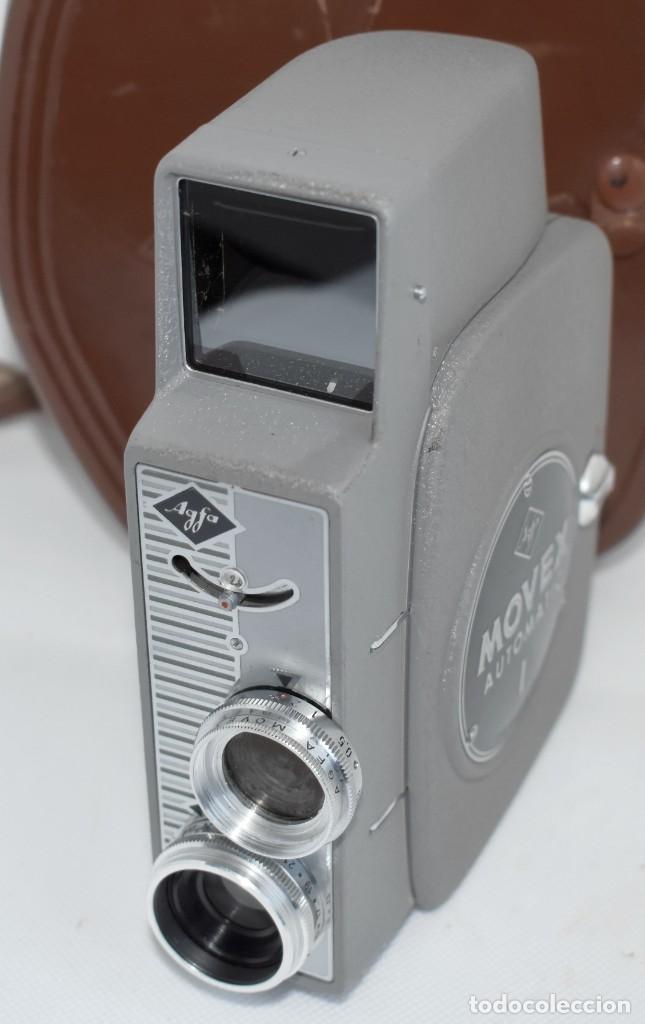 Antigüedades: EXTRAORDINARIA CAMARA, CINE A CUERDA DE 8 mm.ALEMANIA 1958..AGFA MOVEX AUTOMATIC +FUNDA. FUNCIONA - Foto 10 - 287902663