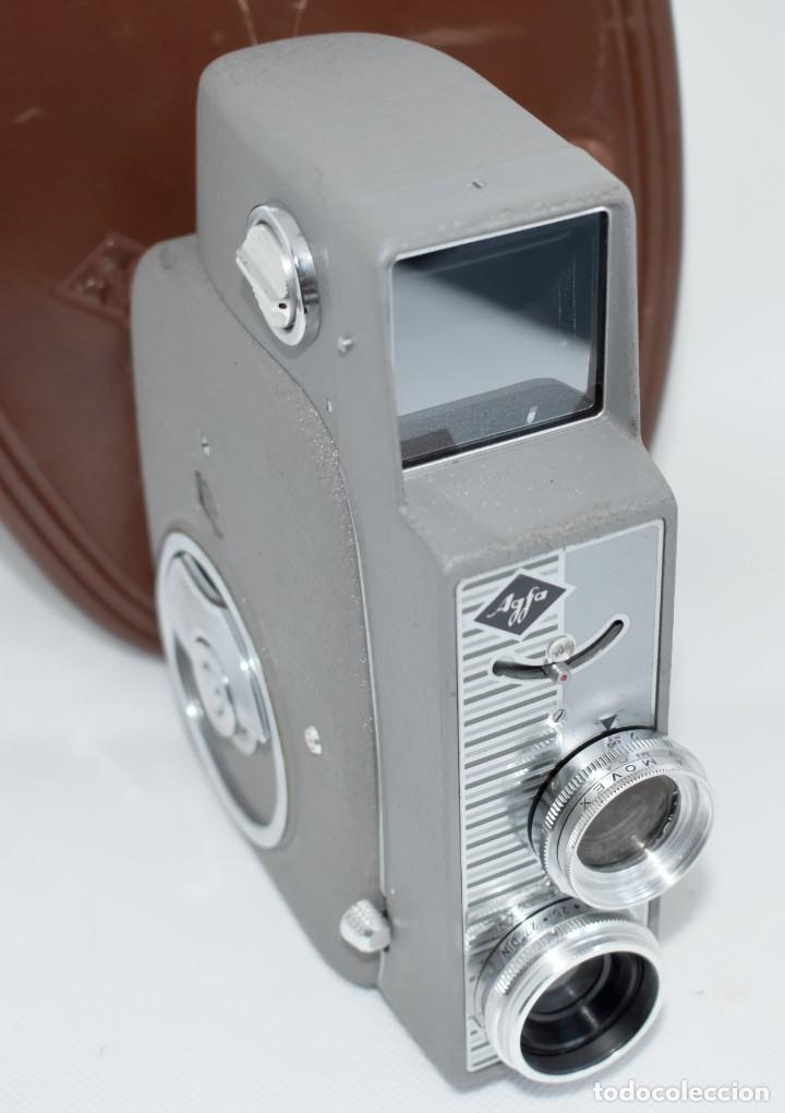 Antigüedades: EXTRAORDINARIA CAMARA, CINE A CUERDA DE 8 mm.ALEMANIA 1958..AGFA MOVEX AUTOMATIC +FUNDA. FUNCIONA - Foto 11 - 287902663