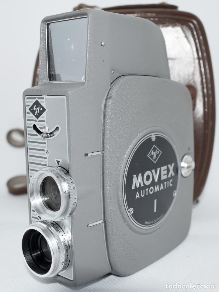 Antigüedades: EXTRAORDINARIA CAMARA, CINE A CUERDA DE 8 mm.ALEMANIA 1958..AGFA MOVEX AUTOMATIC +FUNDA. FUNCIONA - Foto 12 - 287902663