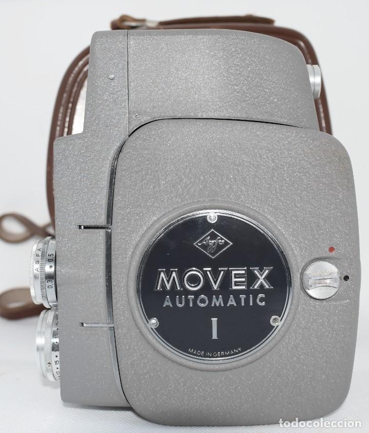 Antigüedades: EXTRAORDINARIA CAMARA, CINE A CUERDA DE 8 mm.ALEMANIA 1958..AGFA MOVEX AUTOMATIC +FUNDA. FUNCIONA - Foto 13 - 287902663
