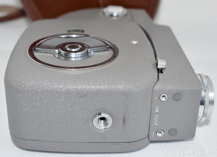 Antigüedades: EXTRAORDINARIA CAMARA, CINE A CUERDA DE 8 mm.ALEMANIA 1958..AGFA MOVEX AUTOMATIC +FUNDA. FUNCIONA - Foto 17 - 287902663
