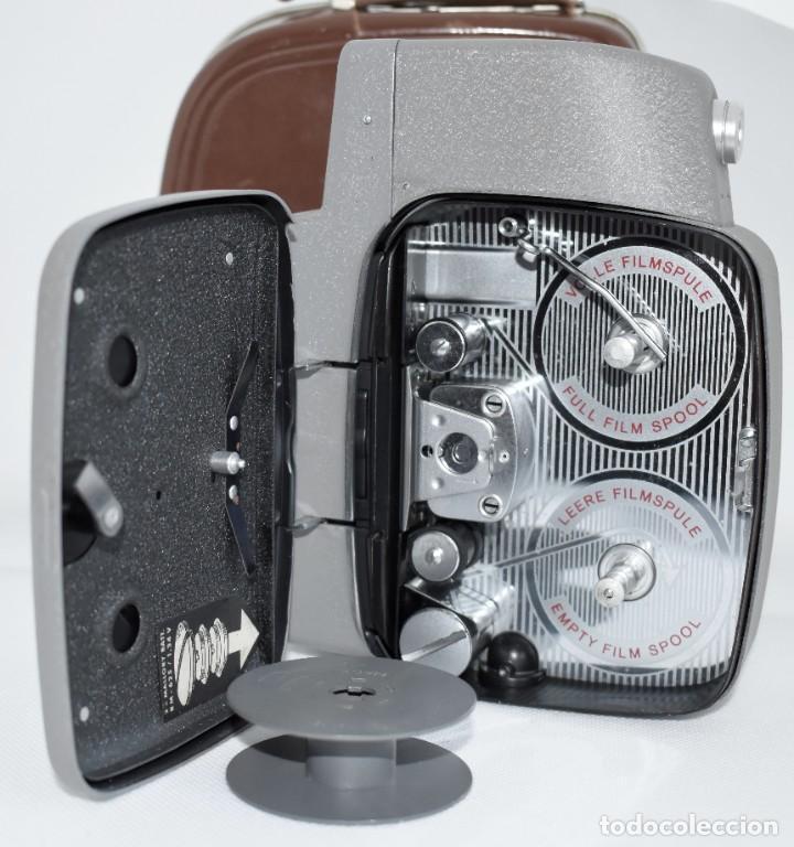 Antigüedades: EXTRAORDINARIA CAMARA, CINE A CUERDA DE 8 mm.ALEMANIA 1958..AGFA MOVEX AUTOMATIC +FUNDA. FUNCIONA - Foto 21 - 287902663