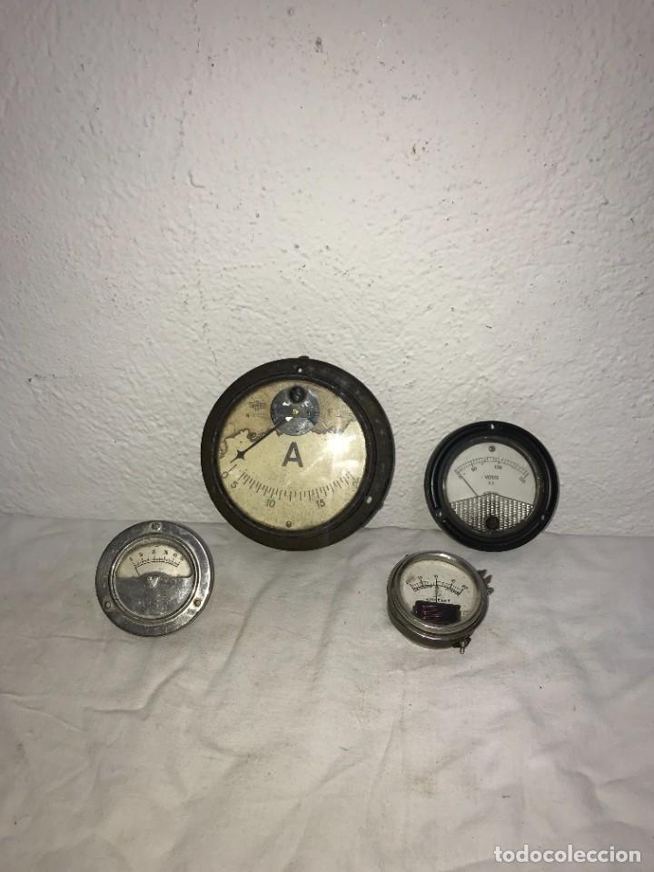 LOTE DE MEDIDORES DE VOLTAJE, AEMSA, BLUFFTON OHIO (U.S.A.), PHAOSTRON. (Antigüedades - Técnicas - Herramientas Profesionales - Electricidad)