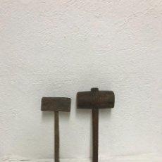 Antigüedades: MAZOS DE MADERA. Lote 287958403