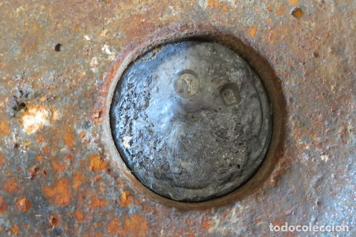 Antigüedades: pesas de 10 y 5 kilos F M selladas y contrastadas - Foto 5 - 288011858