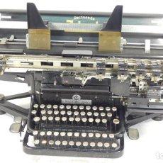 "Antigüedades: GIGANTESCA MAQUINA DE ESCRIBIR IDEAL ""D"" 1927 84 CM ELECTRICA TYPEWRITER SCHREIBMASCHINE ECRIRE. Lote 288012983"