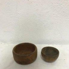 Antigüedades: CUENCOS DE MADERA. Lote 288034338