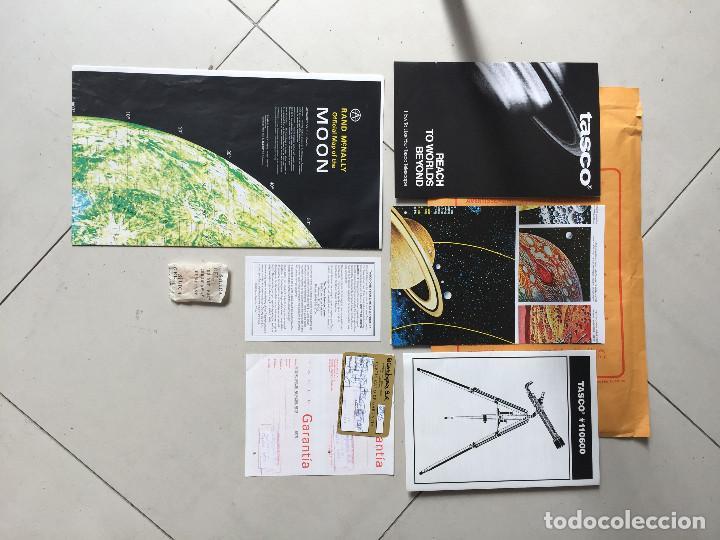 Antigüedades: ¡SOLO RECOGIDA LOCAL EN MADRID CAPITAL! Año 1999 Telescopio Tasco - ¡A estrenar, nunca usado! - Foto 3 - 288050633