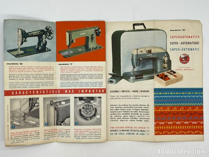 Antigüedades: PUBLICIDAD DE LAS MAQUINAS DE COSER SIGMA - Foto 2 - 288073948