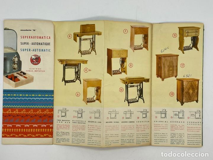 Antigüedades: PUBLICIDAD DE LAS MAQUINAS DE COSER SIGMA - Foto 4 - 288073948
