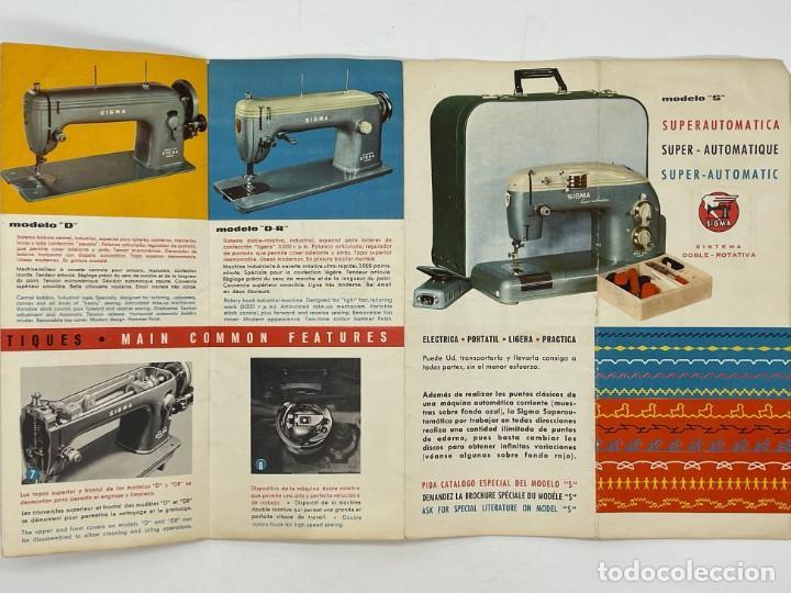 Antigüedades: PUBLICIDAD DE LAS MAQUINAS DE COSER SIGMA - Foto 5 - 288073948