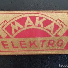 Antigüedades: HOJA DE AFEITAR ANTIGUA MAKA ELEKTRO. FUNDA + HOJA. PERFECTA. Lote 288082538