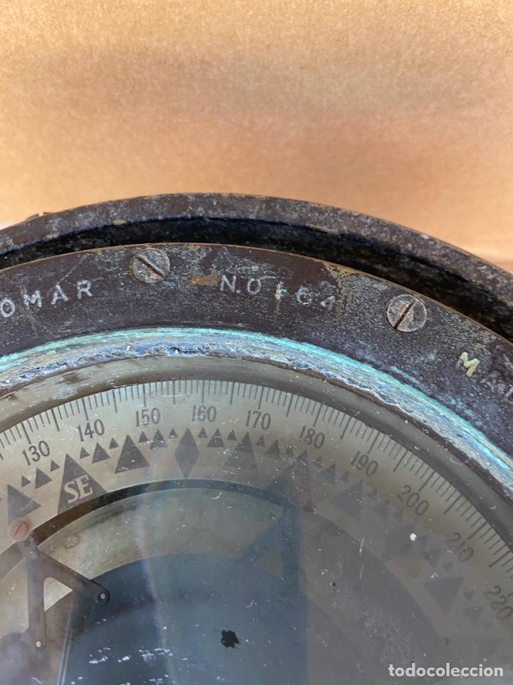Antigüedades: Antiguo y original compás náutico de bitácora. Madrid Hamburgo, PLATH GEOMAR - Foto 4 - 288331288