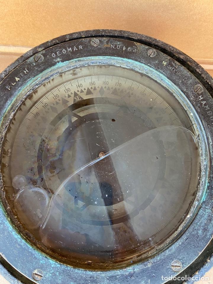 Antigüedades: Antiguo y original compás náutico de bitácora. Madrid Hamburgo, PLATH GEOMAR - Foto 5 - 288331288