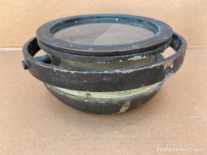 Antigüedades: Antiguo y original compás náutico de bitácora. Madrid Hamburgo, PLATH GEOMAR - Foto 6 - 288331288