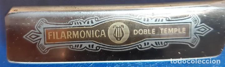 (NA-210904)NAVAJA DE AFEITAR FILARMONICA DOBLE TEMPLE 14 JOSE MONSERRAT POU (Antigüedades - Técnicas - Barbería - Navajas Antiguas)