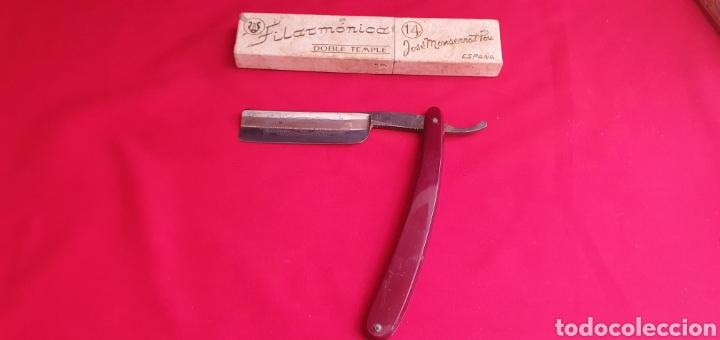 NAVAJAS DE AFEITAR FILARMONICA DOBLE TEMPLE 14 JOSE MONTSERRAT POU (Antigüedades - Técnicas - Barbería - Navajas Antiguas)