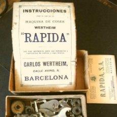 Antigüedades: WERTHEIM CAJA ORIGINAL DE CARTON CON PIEZAS, ACCESORIOS Y HERRAMIENTAS Y LIBRO INSTRUCCIONES (1949). Lote 288368078