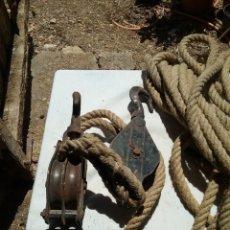 Antigüedades: OOS POLEAS, GARRUCHA. Lote 288410328