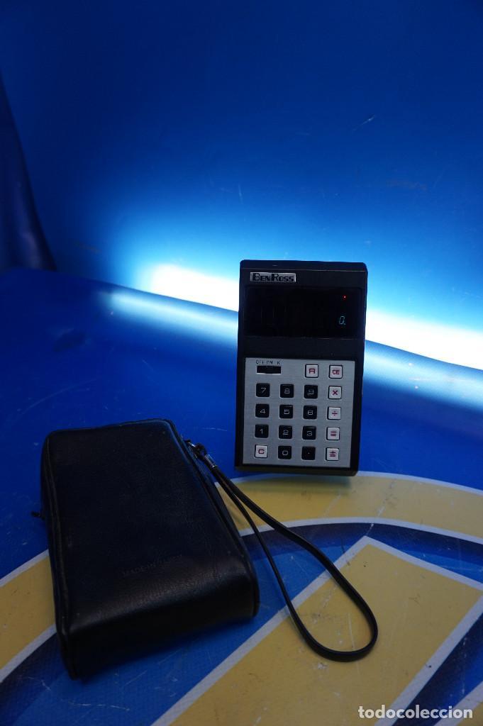 Antigüedades: Calculadora Ben Ross ECL-81. Con funda. 70s. Funciona. - Foto 2 - 288533308