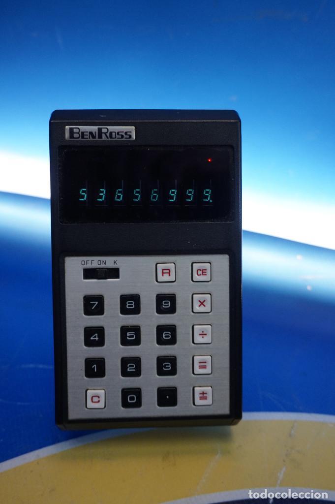 Antigüedades: Calculadora Ben Ross ECL-81. Con funda. 70s. Funciona. - Foto 3 - 288533308