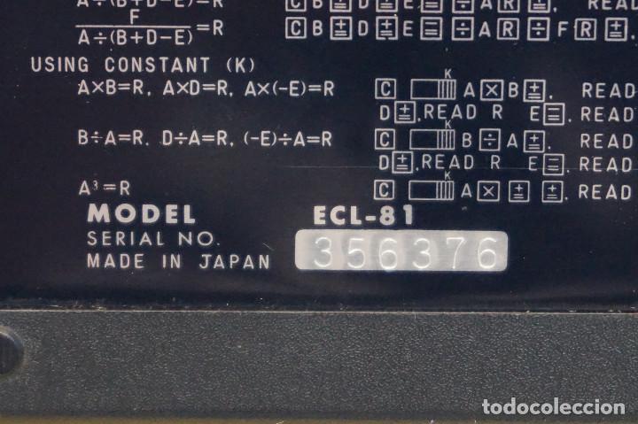 Antigüedades: Calculadora Ben Ross ECL-81. Con funda. 70s. Funciona. - Foto 5 - 288533308