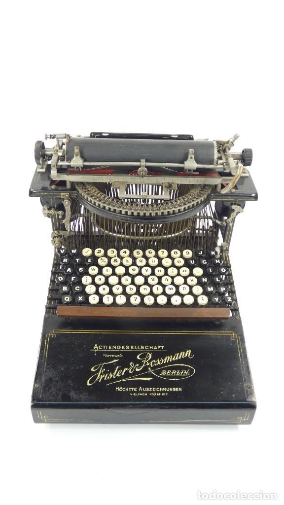 MÁQUINA DE ESCRIBIR FRISTER & ROSSMANN AÑO 1904 TYPEWRITER SCHREIBMASCHINE A ECRIRE (Antigüedades - Técnicas - Máquinas de Escribir Antiguas - Otras)