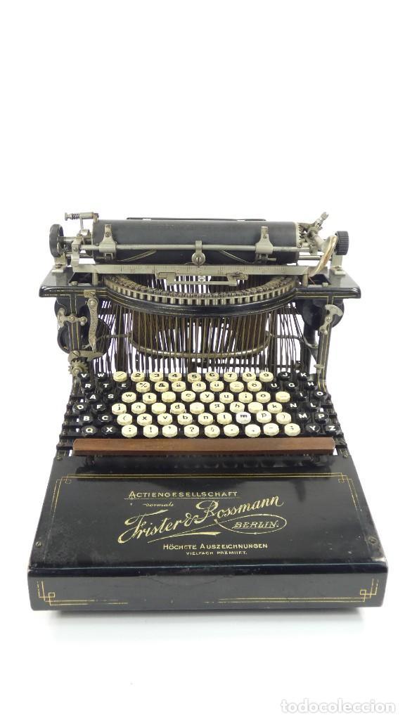 Antigüedades: Máquina de escribir FRISTER & ROSSMANN AÑO 1904 Typewriter Schreibmaschine A Ecrire - Foto 2 - 288549438