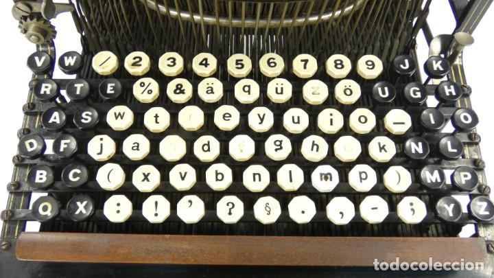 Antigüedades: Máquina de escribir FRISTER & ROSSMANN AÑO 1904 Typewriter Schreibmaschine A Ecrire - Foto 5 - 288549438
