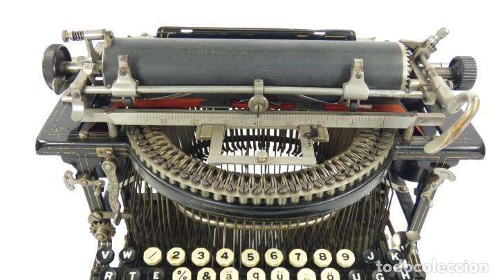 Antigüedades: Máquina de escribir FRISTER & ROSSMANN AÑO 1904 Typewriter Schreibmaschine A Ecrire - Foto 6 - 288549438
