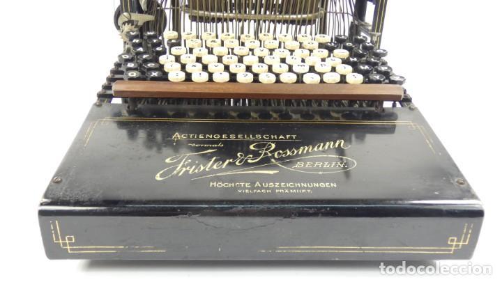 Antigüedades: Máquina de escribir FRISTER & ROSSMANN AÑO 1904 Typewriter Schreibmaschine A Ecrire - Foto 9 - 288549438
