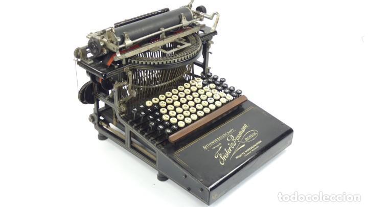 Antigüedades: Máquina de escribir FRISTER & ROSSMANN AÑO 1904 Typewriter Schreibmaschine A Ecrire - Foto 10 - 288549438