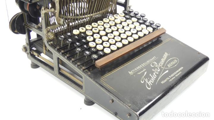 Antigüedades: Máquina de escribir FRISTER & ROSSMANN AÑO 1904 Typewriter Schreibmaschine A Ecrire - Foto 11 - 288549438