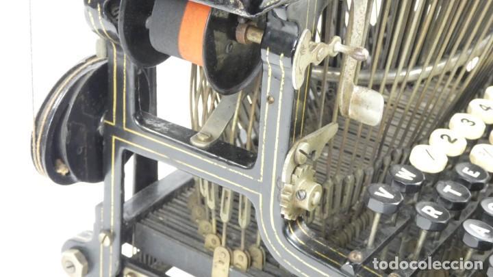 Antigüedades: Máquina de escribir FRISTER & ROSSMANN AÑO 1904 Typewriter Schreibmaschine A Ecrire - Foto 12 - 288549438