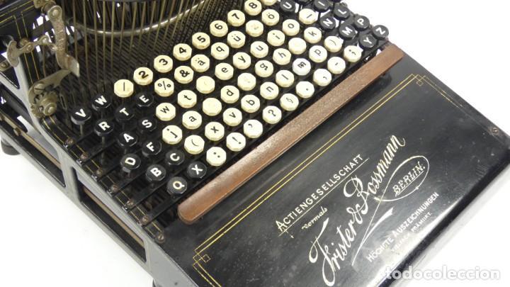 Antigüedades: Máquina de escribir FRISTER & ROSSMANN AÑO 1904 Typewriter Schreibmaschine A Ecrire - Foto 14 - 288549438