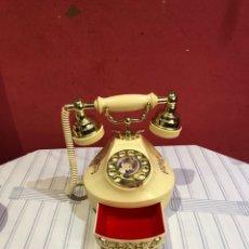 Teléfonos: ANTIGUO TELEFONO AÑOS 70 A CUERDA JOYERO Y CON LA CANCION VIVA ESPAÑA. Lote 288612533