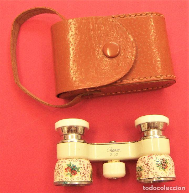 BINOCULARES O IMPERTINENTES PARA LA ÓPERA O TEATRO MARCA CHARM 2.5X CON SU FUNDA (Antigüedades - Técnicas - Instrumentos Ópticos - Binoculares Antiguos)