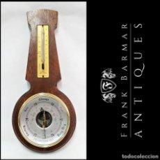 Antigüedades: ANTIGUO BARÓMETRO, TERMÓMETRO, HIGRÓMETRO DE PARED EN MADERA NOBLE MARCA SB (ENGLAND), 30,5 CM. Lote 288685698