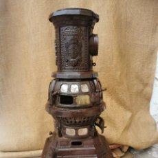 Antigüedades: ESTUFA SALAMANDRA HIERRO FORJADO CHARLES NOBLE & CO.PHILADELPHIA.PAT 1879.ORIGINAL.LEER BIEN ANUNCIO. Lote 288699473