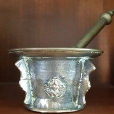Antiquités: PRECIOSO MORTERO DE BRONCE SIGLO XVIII. Lote 288701898