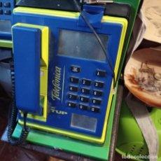 Teléfonos: CABINA TELE TUP CON SOPORTE Y LLAVES TELEFONO. Lote 288858938
